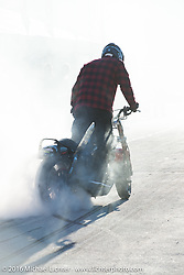 Burnout at Chris Theis' Street Cowboys stunt show at Hal's Harley-Davidson during the Milwaukee Rally. Milwaukee, WI, USA. Friday, September 2, 2016. Photography ©2016 Michael Lichter.