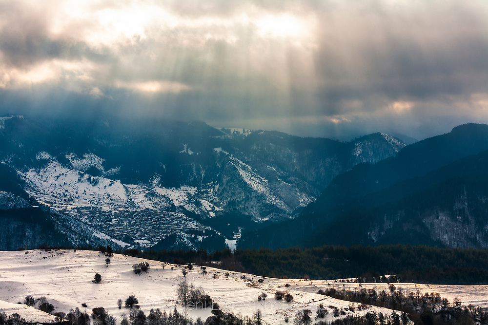 Rhodope Mountains in winter time