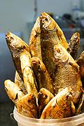 Balyk, dried fish, Centraltirgus, main market place, Riga, Latvia