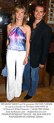 MR GRANT BOVEY and TV presenter ANTHEA TURNER at a party in London on 22nd June 2004.PWK 18
