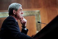 May 17, 2017 - FILE PHOTO - The Justice Department on Wednesday named ROBERT MUELLER as special counsel to oversee the department's investigation into Russian meddling in the 2016 election. Mueller III served as FBI director from 2001 through 2013. Pictured: May 16, 2012 - Washington, DC, U.S. -  FBI Director ROBERT MUELLER testifies before the Senate Judiciary Committee Hearing on oversight of the Federal Bureau of Investigation. (Credit Image: © James Berglie/ZUMAPRESS.com)