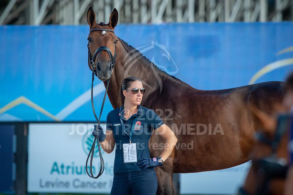 Charlotte DUJARDIN (GBR) & MOUNT ST JOHN FREESTYLE - Dressage Horse Inspection - FEI World Equestrian Games™ Tryon 2018 - Tryon, North Carolina, USA - 11 September 2018