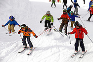 Children Skiing - Insbruck - Austrian Tyrol .<br /> <br /> Visit our SWITZERLAND  & ALPS PHOTO COLLECTIONS for more  photos  to browse of  download or buy as prints https://funkystock.photoshelter.com/gallery-collection/Pictures-Images-of-Switzerland-Photos-of-Swiss-Alps-Landmark-Sites/C0000DPgRJMSrQ3U