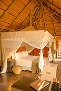 Interior bedroom, Seera Cafema Camp, Hartmanns Valley, Kunene River, Namibia, Northern Namibia, Southern