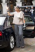 Koning Willem-Alexander en koningin Maxima tijdens de buitengewone vergadering van de Raad van State ter gelegenheid van het afscheid van vice-president Piet Hein Donner.<br /> <br /> King Willem-Alexander and Queen Maxima at the extraordinary meeting of the Council of State on the occasion of the farewell of Vice-President Piet Hein Donner.<br /> <br /> Op de foto / On the photo:  Koningin Maxima / Queen Maxima