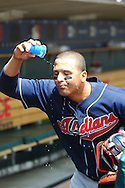 COPYRIGHT DAVID RICHARD.Victor Martinez of the Cleveland Indians..Cleveland Indians at Detroit Tigers, July 5, 2007