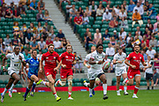 Twickenham, United Kingdom,  26th May 2019, HSBC London Sevens, USA's., Kevin WILLIAMS, leads a breakout from defence, during the  Cup Quarter Final match USA vs Canada, played at  the  RFU Stadium, Twickenham, England, <br /> © Peter SPURRIER: Intersport Images<br /> <br /> 12:14:46 26.05.19