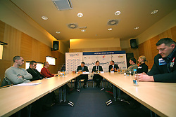 A press conference when Athletic Federation of Slovenia (AZS) and top Slovenian athletes sign a contract of sponsorship, on February 14, 2008 in M-Hotel, Ljubljana, Slovenia. (Photo by Vid Ponikvar / Sportal Images)