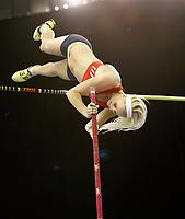 Photo: Richard Lane/Richard Lane Photography. Aviva Grand Prix. 20/02/2010. Norway's Cathrine Larsasen on her way to breaking her national indoor pole vault record.