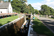UK, Wales, Monmouthshire, Brecon Powys, Brynich lock on Brecon canal