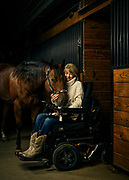 University of Miami Medicine Spring 2020 - Dana Hunt Smith photographed in her family's stable with Lady.
