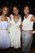 l to r: Sydney Bolden, Tracey Reese, and Michelle Murray at The Alize Liquer Concrete + Cashmere Career Polishing Pack Luncheon held at The Blue Fin on August 19, 2009 in New York City..Life is more colorful when you mix it up so Alizé is bringing you the hip, edgy reality series Concrete + Cashmere. This show chronicles the lives of 6 adventurous,aspiring fashion professionals as they compete for $10,000 and mentoring from some of the brightest luminaries in the business through our Career Polishing Package...