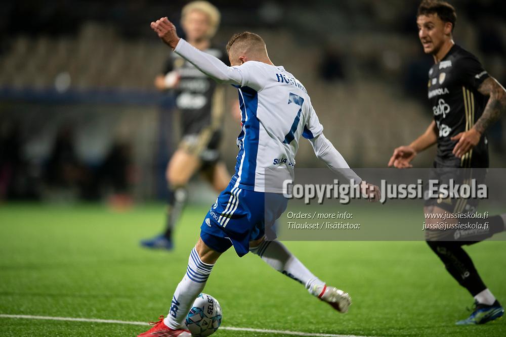 2-1. Santeri Hostikka. HJK - SJK. Veikkausliiga. Helsinki 3.10.2021. Photo: Jussi Eskola