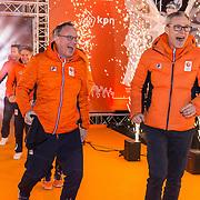 NLD/Amsterdam/20180226 - Thuiskomst TeamNL, Geert Kuiper en Arie Koops