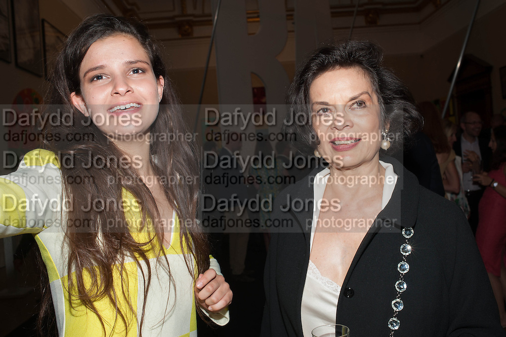 EVANGELINE LING; BIANCA JAGGER, The private view for the RA summer exhibition party. Royal Academy, Piccadilly. London. 5 June 2013.