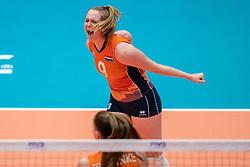 Britte Stuut of Netherlands in action during semi final Netherlands - Serbia, FIVB U20 Women's World Championship on July 17, 2021 in Rotterdam