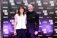Rebecca Rusch and Nicholas Schrunk on the red carpet at the screening of Blood Road at the Bluebird Theater in Denver, CO, USA on 27 June, 2017.
