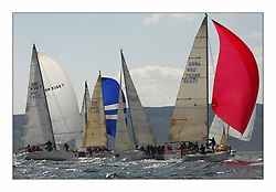Bell Lawrie Scottish Series 2008. Fine North Easterly winds brought perfect racing conditions in this years event..GBR9368, North Star, First 40.7, GBR7508R A-Crewed Interest,  Class 2,  downwind.