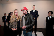 SCOTT YOUNG; NOELLE RENO; PRINCE WILLIAM WAXWORK, 'Engagement' exhibition of work by Jennifer Rubell. Stephen Friedman Gallery. London. 7 February 2011. -DO NOT ARCHIVE-© Copyright Photograph by Dafydd Jones. 248 Clapham Rd. London SW9 0PZ. Tel 0207 820 0771. www.dafjones.com.
