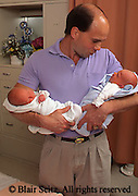 Medical, Maternity Hospital Care, Twins, Father and Twins
