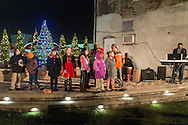 Middletown, New York - The YMCA of Middletown Choir performs before the City of Middletown held its holiday parade and tree lighting on Nov. 25, 2016.