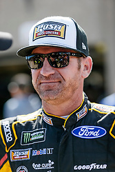 November 2, 2018 - Fort Worth, TX, U.S. - FORT WORTH, TX - NOVEMBER 02: Monster Energy NASCAR Cup Series driver Clint Bowyer (14) walks through the garage area during practice for the AAA Texas 500 on November 02, 2018 at the Texas Motor Speedway in Fort Worth, Texas. (Photo by Matthew Pearce/Icon Sportswire) (Credit Image: © Matthew Pearce/Icon SMI via ZUMA Press)