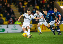 Livingston Steven Lawless scoring their first goal from a penalty. Livingston 3 v 1 Raith Rovers, William Hill Scottish Cup played 18/1/2020 at the Livingston home ground, Tony Macaroni Arena.