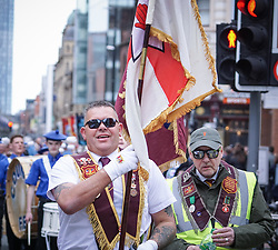 May 4, 2019 - Manchester, England, United Kingdom - Thousand veterans took to the streets at the Albert Square  in Manchester , on 4 May 2019 ,  to protest as they demanding an end to the 'witch-hunt' against troops who served in Northern Ireland. (Credit Image: © Giannis Alexopoulos/NurPhoto via ZUMA Press)