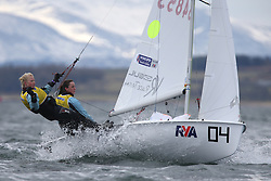 Image Credit Marc Turner.420, 54853, Annabel CATTERMOLE, Bryony BENNETT-LLOYD, Welwyn Garden City SC.Day 4, RYA Youth National Championships 2013 held at Largs Sailing Club, Scotland from the 31st March - 5th April. .