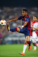 Neymar Jr of FC Barcelona during the UEFA Champions League, Group F, football match between FC Barcelona and Ajax Amsterdam on October 21, 2014 at Camp Nou Stadium in Barcelona, Spain. Photo MANUEL BLONDEAU / AOP PRESS / DPPI