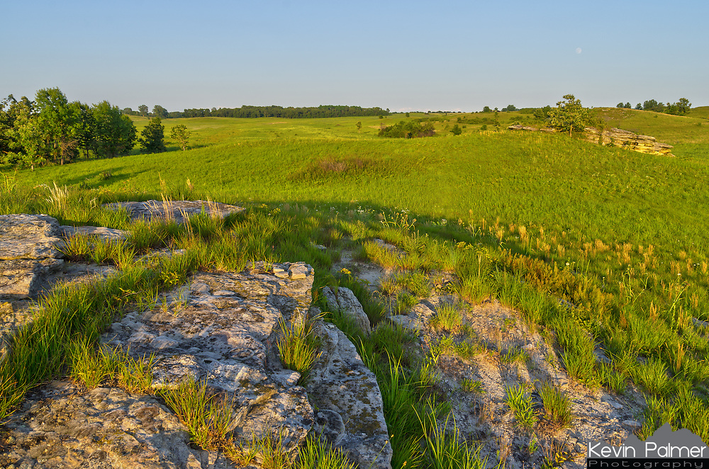 Once you are in the middle of the Nachusa Grasslands, the views are expansive making the place feel much bigger than it is. On the top of the rolling hills are outcrops made of St. Peter Sandstone.<br /> <br /> Date Taken: July 10, 2014