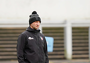Leicester Tigers Head Coach Steve Borthwick during a Gallagher Premiership Round 10 Rugby Union match, Friday, Feb. 20, 2021, in Leicester, United Kingdom. (Steve Flynn/Image of Sport)