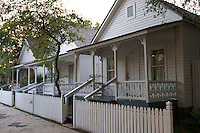 Historic Houses on Ybor City, Tampa, Forida.