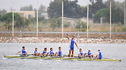 Marathon, GREECE,  Men's eights final, at the FISA European Rowing Championships.  Lake Schinias Rowing Course, SAT. 20.09.2008  [Mandatory Credit Peter Spurrier/ Intersport Images] , Rowing Course; Lake Schinias Olympic Rowing Course. GREECE