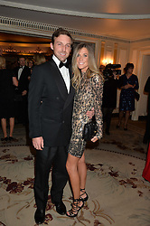 MR & MRS CHARLIE LANGTON at the 26th Cartier Racing Awards held at The Dorchester, Park Lane, London on 8th November 2016.