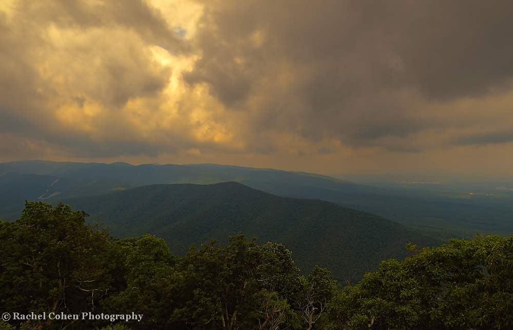 """""""Stormy Sunset in the Blue Ridge""""<br /> <br /> Enjoy a beautiful stormy sunset in the Blue Ridge Mountains!"""