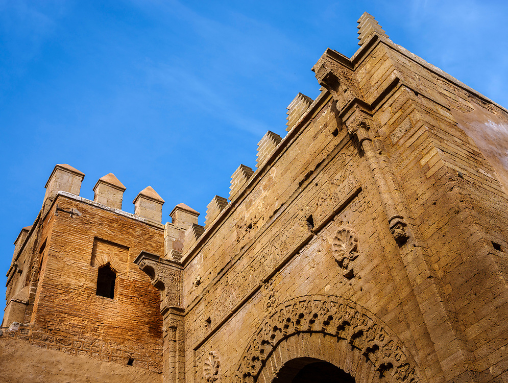 RABAT, MOROCCO - CIRCA APRIL 2017: Entrance to Chellah, an ancient citadel featuring Roman ruins an royal tombstones in Rabat.