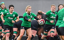 Ireland women's Ailsa Hughes in action during todays match<br /> <br /> Photographer Craig Thomas/Replay Images<br /> <br /> International Friendly - Wales women v Ireland women - Sunday 21th January 2018 - CCB Centre for Sporting Excellence - Ystrad Mynach<br /> <br /> World Copyright © Replay Images . All rights reserved. info@replayimages.co.uk - http://replayimages.co.uk
