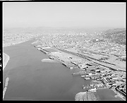 """Ackroyd 11874-04 """"Port of Portland. Aerials. August 15, 1963 Portland from south of Swan Island, also shows Gunderson, Schnitzer, Shaver etc."""""""