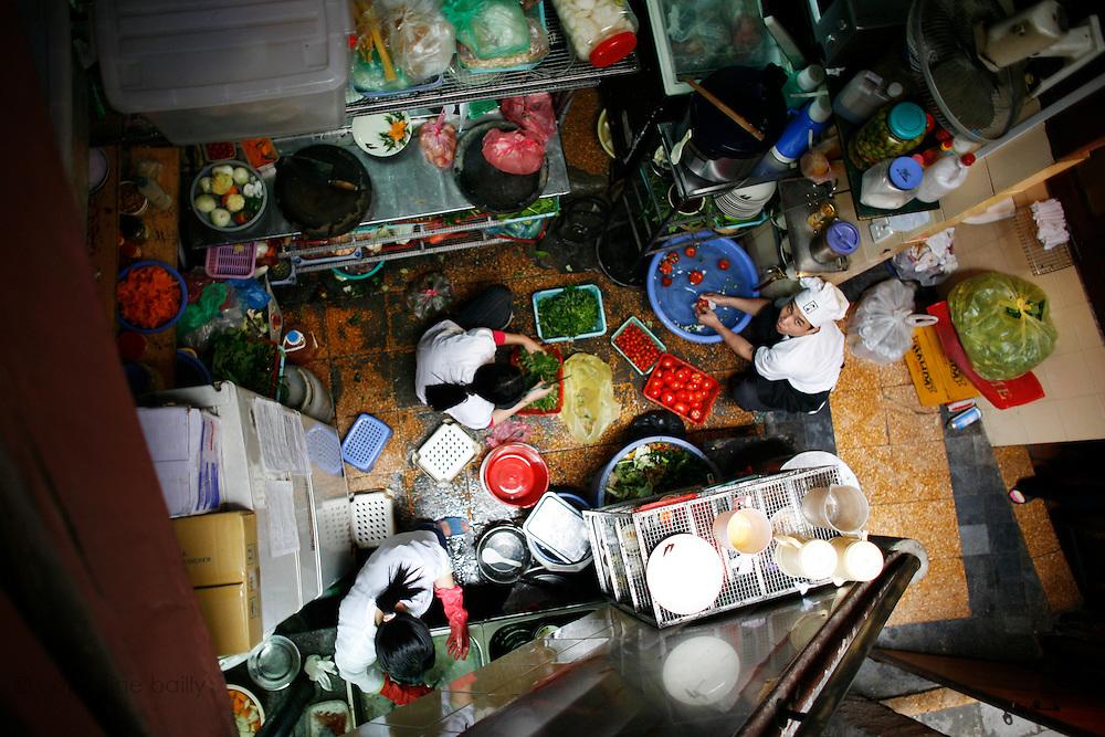 "Hanoi, Vietnam. March 11th 2007..The Kitchen of the ""Xa Lo 4"" restaurant."