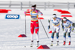 March 10, 2019 - Oslo, NORWAY - 190310 Ingvild Flugstad Østberg of Norway, Ebba Andersson and Charlotte Kalla of Sweden compete in the women's 30 km classic technique mass start during the FIS World Cup on March 10, 2019 in Oslo..Photo: Jon Olav Nesvold / BILDBYRÃ…N / kod JE / 160424 (Credit Image: © Jon Olav Nesvold/Bildbyran via ZUMA Press)