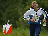 Orientering, 21. juni 2002. NM sprint. Jorid Flatekval, Oppsal.