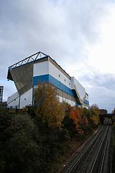 Birmingham City's stadium in late autumn before the match at St Andrew's Trillion Trophy Stadium