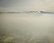 Air pollution on the edge of the city.<br /> Mongolia