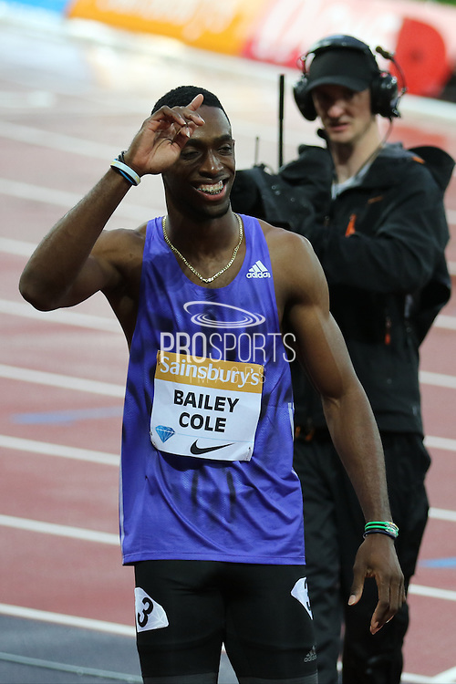 Kemar Bailey-Cole during the Sainsbury's Anniversary Games at the Queen Elizabeth II Olympic Park, London, United Kingdom on 24 July 2015. Photo by Ellie Hoad.