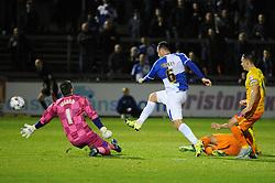 Tom Parkes of Bristol Rovers goes close to making it 3-0 - Mandatory byline: Neil Brookman/JMP - 07966 386802 - 06/10/2015 - FOOTBALL - Memorial Stadium - Bristol, England - Bristol Rovers v Wycombe Wanderers - JPT Trophy