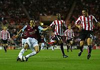 Photo: Andrew Unwin.<br />Sunderland v West Ham United. The Barclays Premiership.<br />01/10/2005.<br />West Ham's Yossi Benayoun (L) equalises for his team.