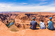 Tourists at Horseshoe Bend Overlook Arizona