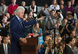 November 8, 2016 - Raleigh, United States - Bill Clinton  during a campaign rally at North Carolina State University on November 8, 2016 in Raleigh North Carolina. With less than 24 hours until Election Day in the United States, Hillary Clinton is campaigning in Pennsylvania, Michigan and North Carolina. (Credit Image: © Zach D Roberts/NurPhoto via ZUMA Press)