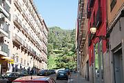 Madrid, Spain, building in Paseo del Rey behind Principe Pio